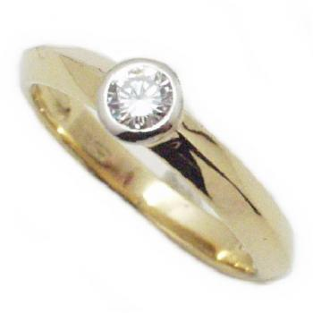ring 18kt briljant solitaire