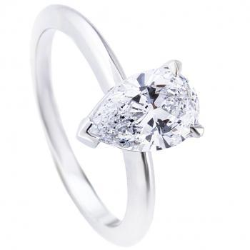 solitaire ring with a pear shaped diamond