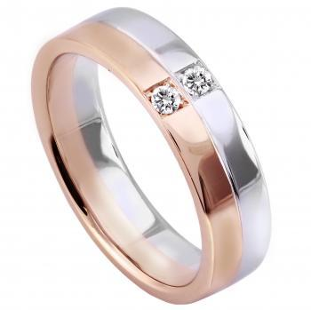wedding ring hand made with a brilliant cut diamond set on the engraved line on 2/3