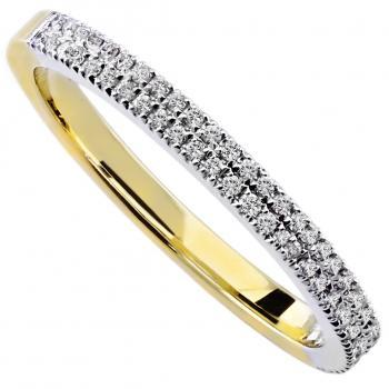 wedding band castle set with two rows of brilliant cut diamonds