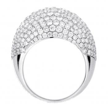 pavé ring brilliant high  rounded