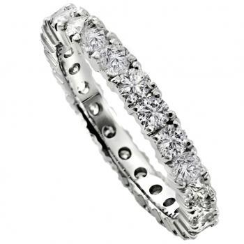 wedding ring completely set with brilliant cut diamonds set with claws