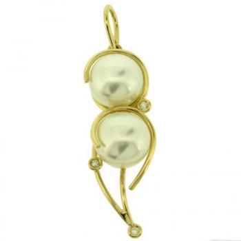 pendant wire 18kt brilliant pearls 11mm