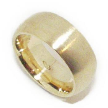 ring 18kt massif rounded buiten and inside