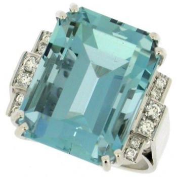 ring brilliant and aquamarine