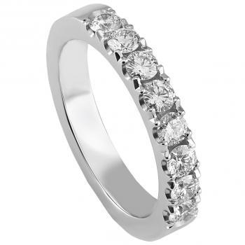 wedding band castle set with brilliant cut diamonds