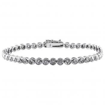 tennis bracelet brilliant in thinner pots with two security eights and safety chain