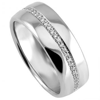 wedding band ring slightly rounded on the inner and outside (light oval profile)