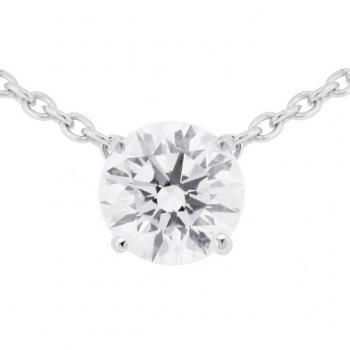 necklace with a brilliant cut diamond fixed between links